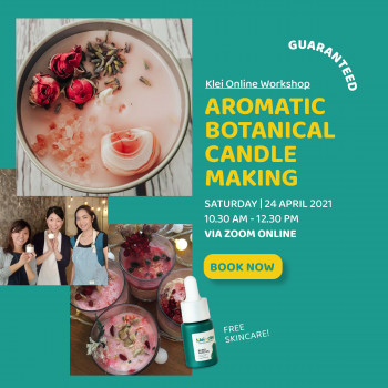 Botanical Candle Making Workshop (ONLINE)